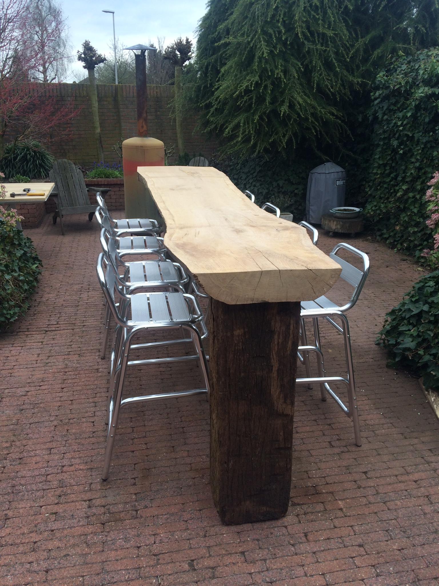 Ongekend Bar / Tuin -tafel - Sterk met Hout DL-81